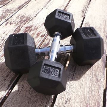 Picture of Rubber Hex Dumbbell 5KG