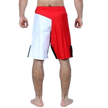 Picture of MMA Short White/Red