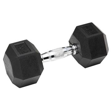 Picture of Rubber Hex Dumbbell 10KG