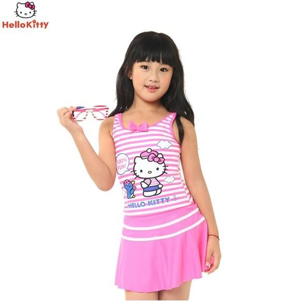 Picture of Girls Hello Kitty Swimming Suit HEG32540