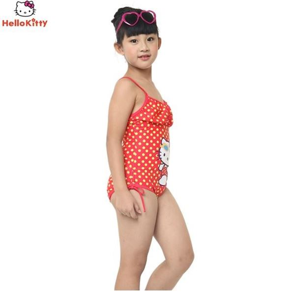 Picture of Girls Hello Kitty Swimming Suit HEG32541