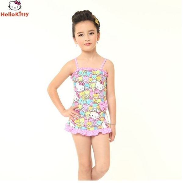Picture of Girls Hello Kitty Swimming Suit HEG32536