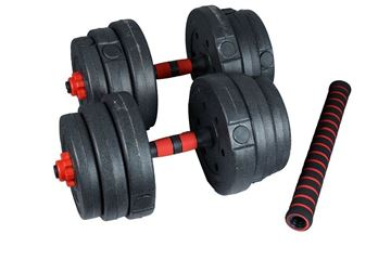 Picture of Adjustable Plastic Dumbbell 25kg with 2 Bars & long Bar