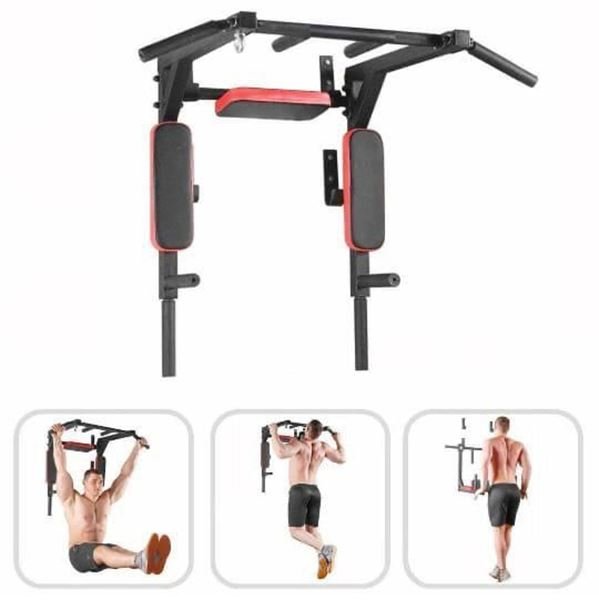wall mounted pull up bar with dip station